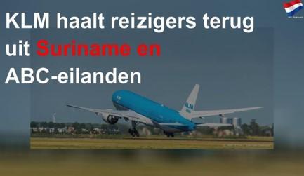 KLM haalt reizigers terug uit Suriname en ABC-eilanden - YouTube